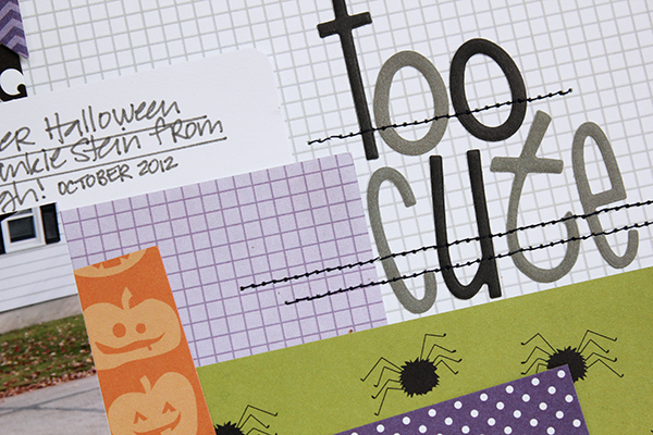 Too Cute Layout by Juliana Michaels using Bella Blvd Trick or Treat detail