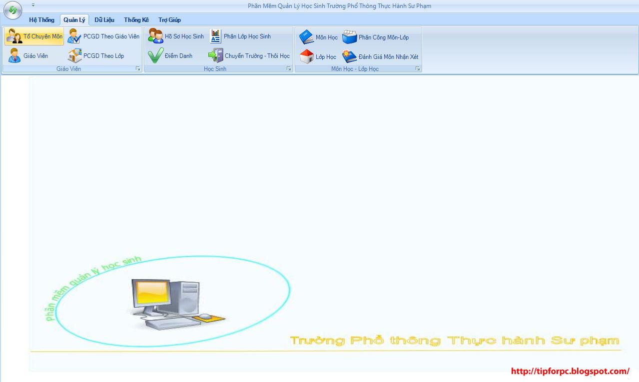 Mã nguồn phần mềm Quản lý học sinh THPT thực hành sư phạm