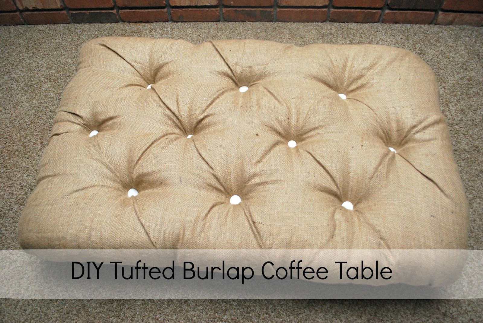 Diy round coffee table ottoman - The Only Difference Was For The Base Of The Table We Used Was