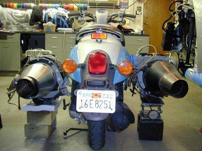 Skuter Honda Mesin Jet Modifikasi