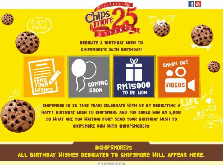 Cpuv ke 61 : chipsmore 25th anniversary , menang rm2,500 dari chipsmore , resepi dari chipsmore