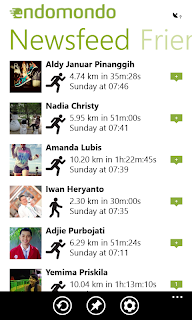 Endomondo - Aplikasi Terbaik di Windows Phone 8