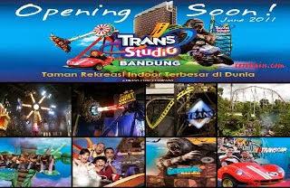 Wahana bermain di Trans Studio Bandung