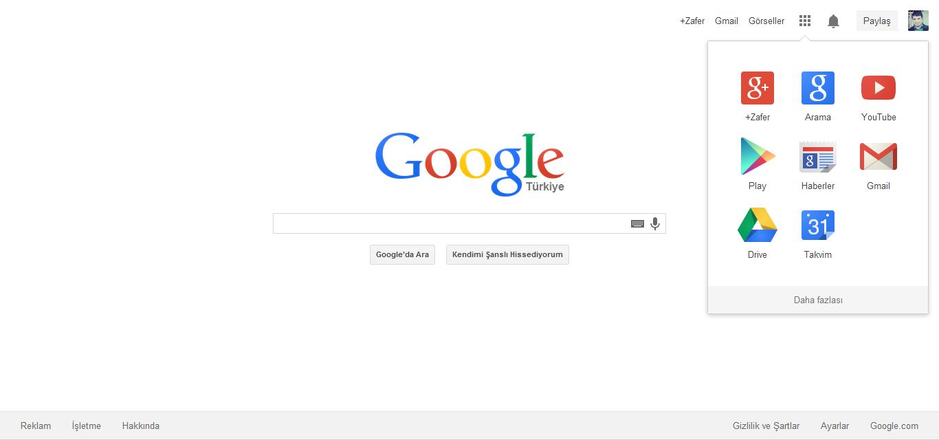 Google Yeni Ana Sayfa Tasarımı