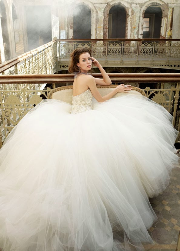 Link Camp Cinderella Ball Gown Wedding Dress Collection 2014 35
