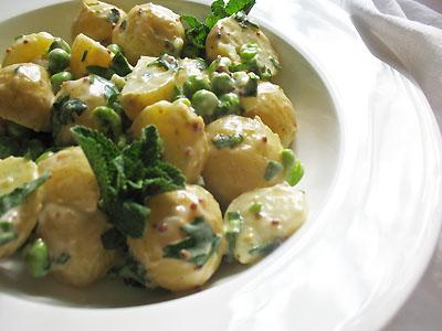 Creamy Herbed Potato and Green Pea Salad | Lisa's Kitchen | Vegetarian ...