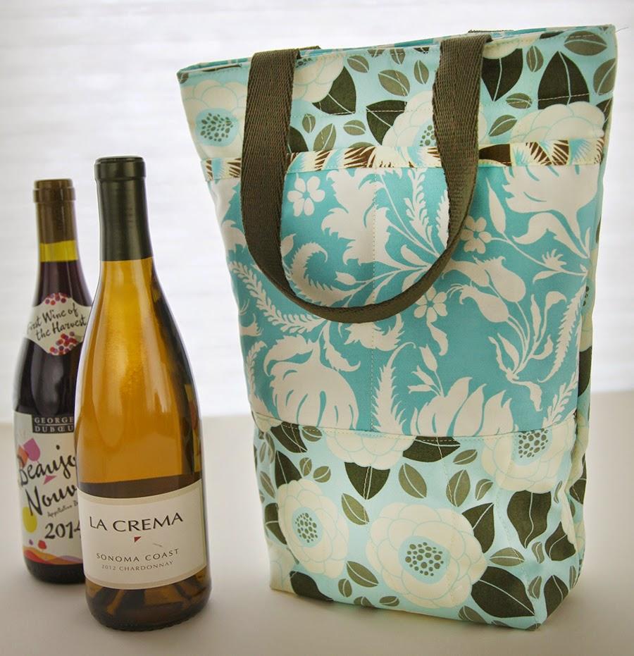 Green Bag Lady Wine Bag Tutorial