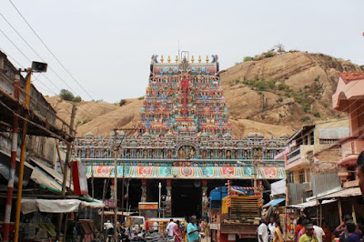Tiruparamkundaram Temple and Rock behind