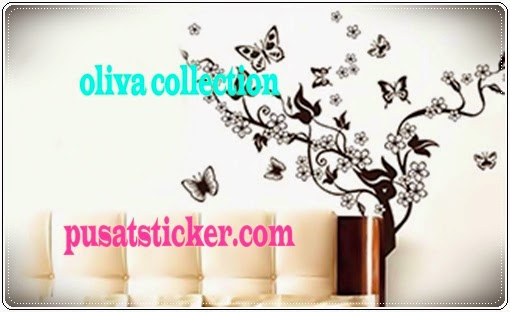 jual wall sticker model kupu hitam - olivacollection
