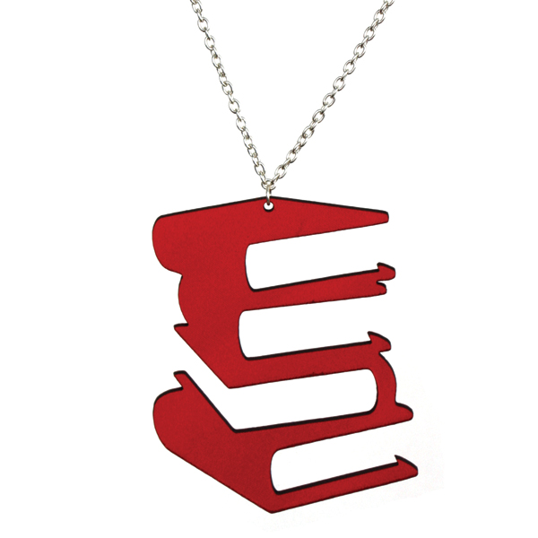 Aroha Silhouettes Vinyl Record Necklace Red