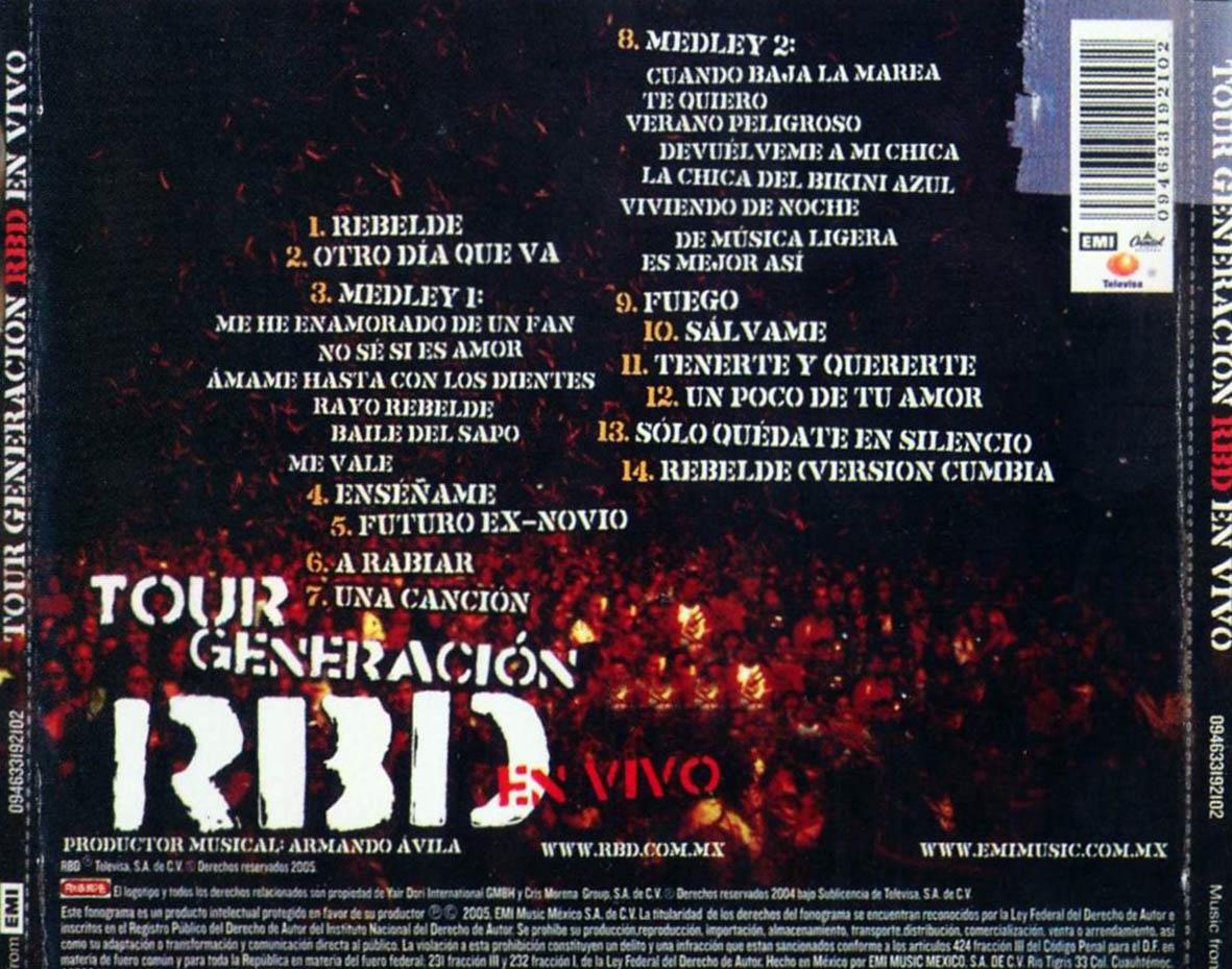 generacion rbd com: