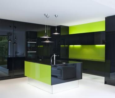 High gloss acrylic splashbacks from parapan kitchen for Lime black kitchens