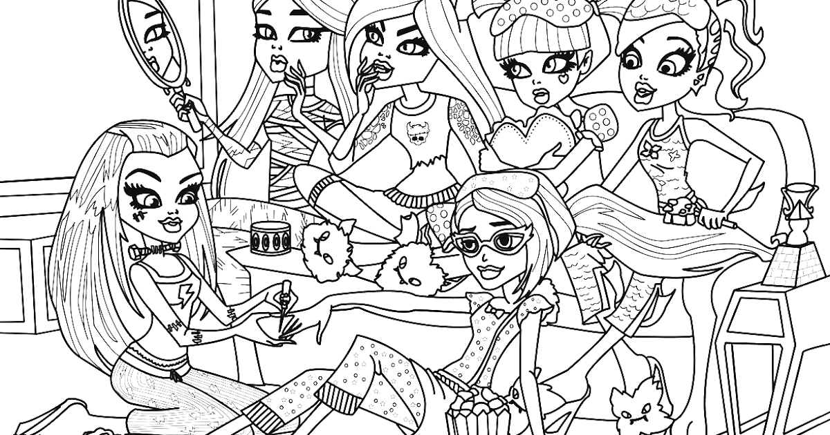 Monster High Colouring Pages : Free printable monster high coloring pages: slumber