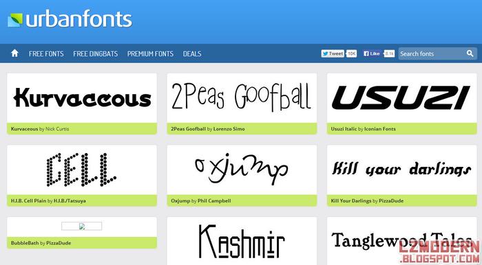 Urban Fonts