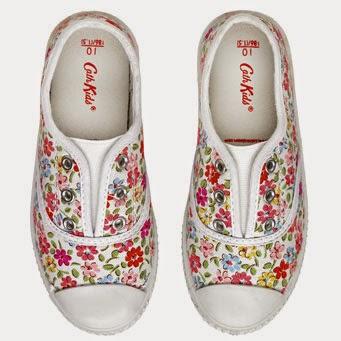 blommig sneaker för barn Cath kidston