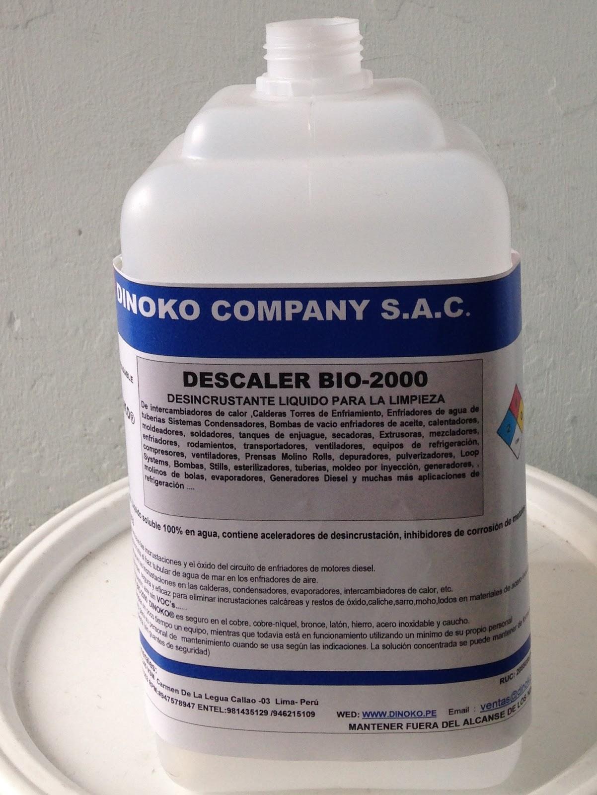 Dinoko company sac - Liquidos para desatascar tuberias ...