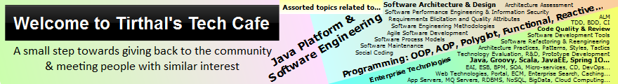 Tirthal's Tech Cafe - Java Platform and Software Engineering related blogs and articles