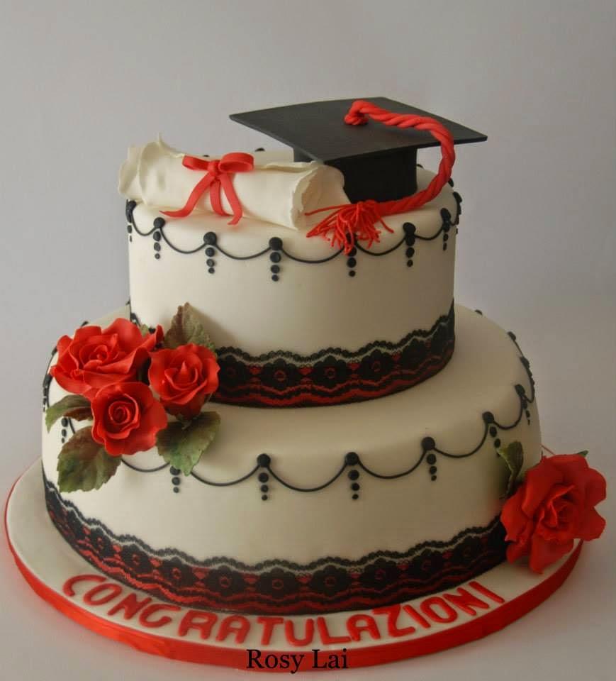 Le torte di rosy lai torta laurea tocco pergamena pizzo for Laurea in design