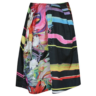 preen thornton bregazzi paint spalsh flower skirt