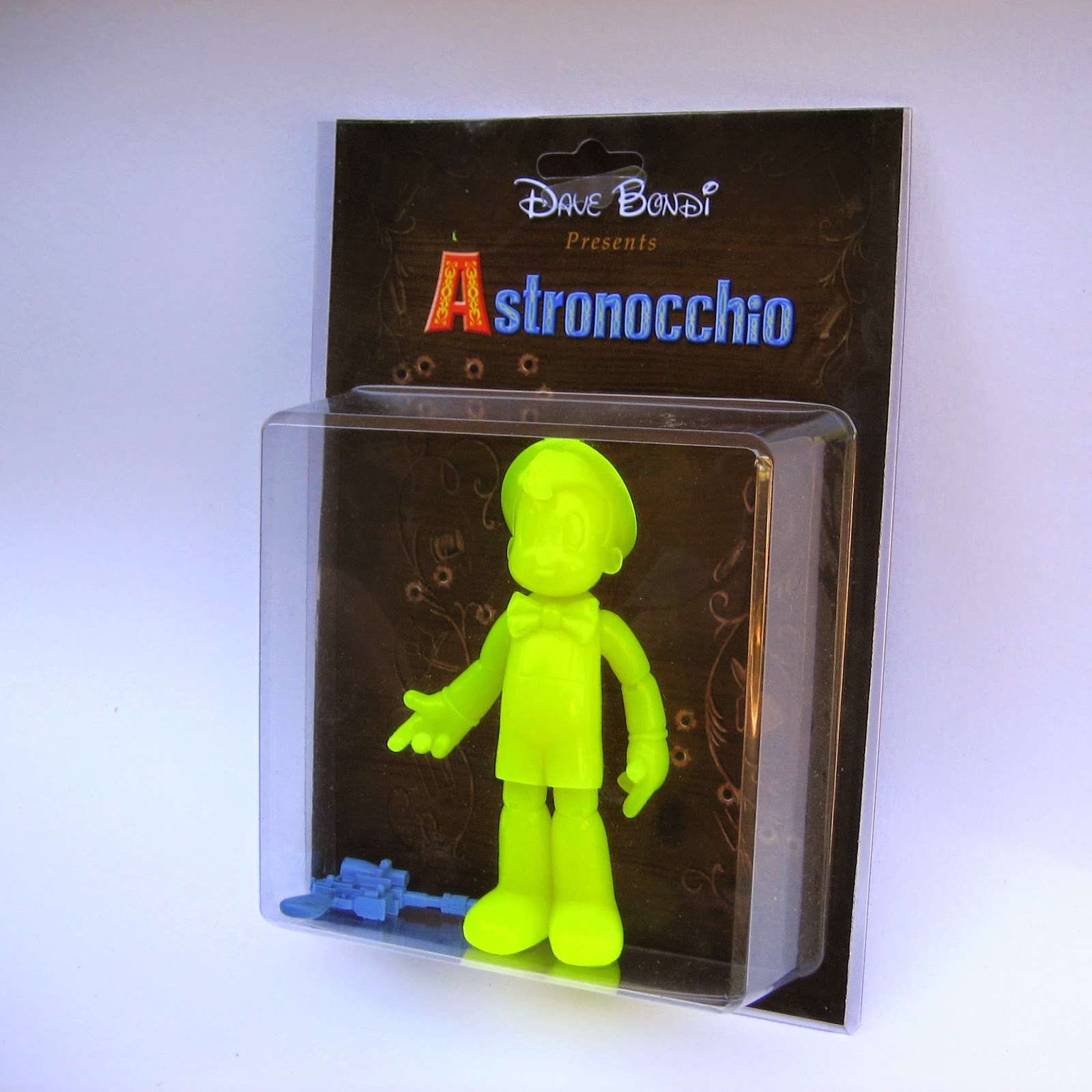 """Blacklight Yellow"" Edition Astronocchio Resin Figure by Dave Bondi"