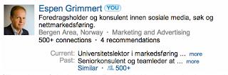LinkedIn-profil Espen Grimmert