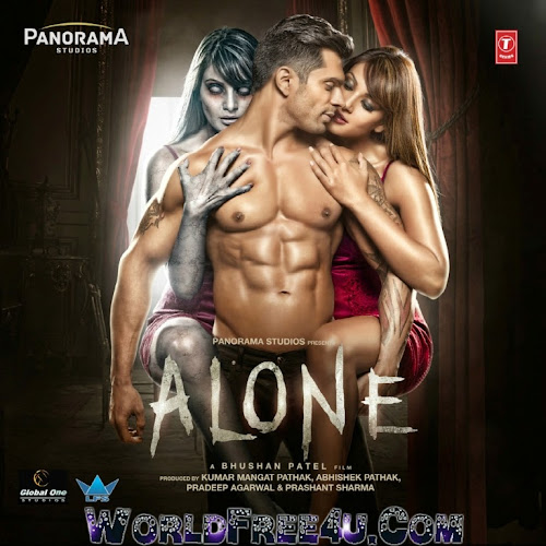 Poster Of Hindi Movie Alone (2015) Free Download Full New Hindi Movie Watch Online At World4ufree.org