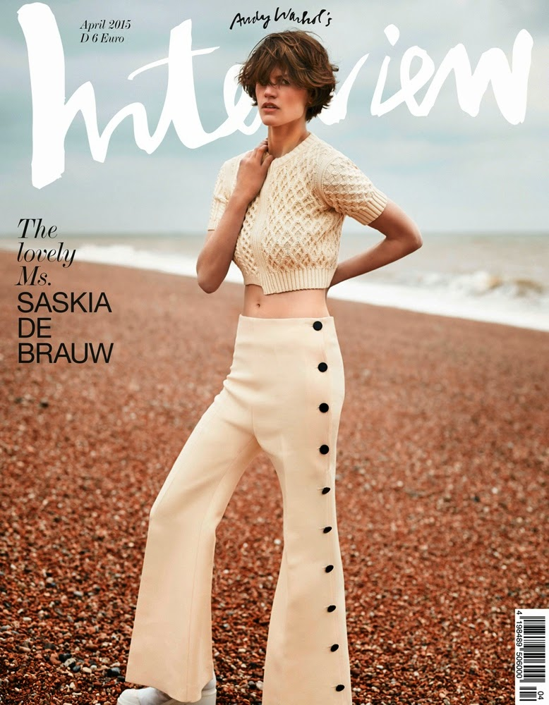 Fashion Model @ Saskia De Brauw By Annemarieke Van Drimmelen For Interview Germany, April 2015