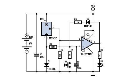 Schematic Frost Detector Temperature Sensor