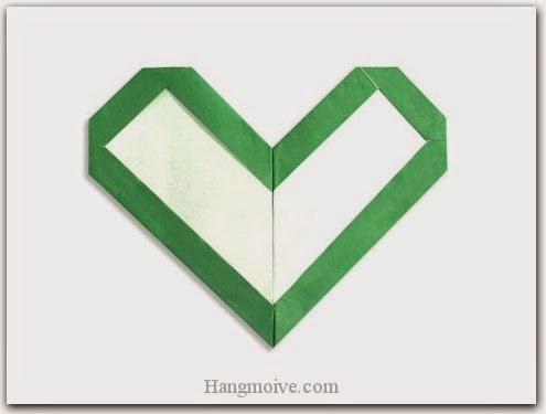 Cách gấp, xếp hình trái tim có viền bằng giấy origami - Video hướng dẫn xếp hình trái tim quà tặng - How to fold a Frame Heart