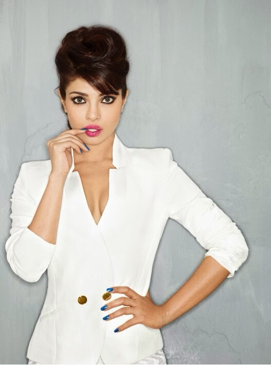 Priyanka Chopra in short white coat Maxim Magazine