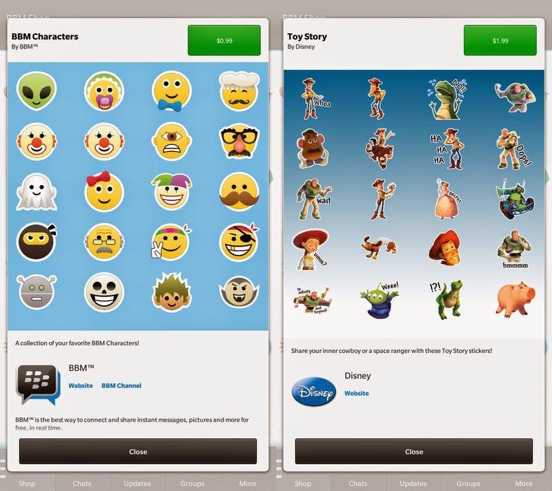 Dos nuevos paquetes de stickers están apareciendo ahora en el BBM tienda. Esta vez Disney se une a la diversión, ofreciendo un paquete de Toy Story muy dulce y en caso de que no es suficiente para ti, BlackBerry ha añadido un paquete a BBM con nuevos personajes. El paquete de Toy Story tiene un precio de lo usual $ 1.99, mientras que el paquete de caracteres BBM tiene un precio de $ 0.99. Fuente: CrackBerry