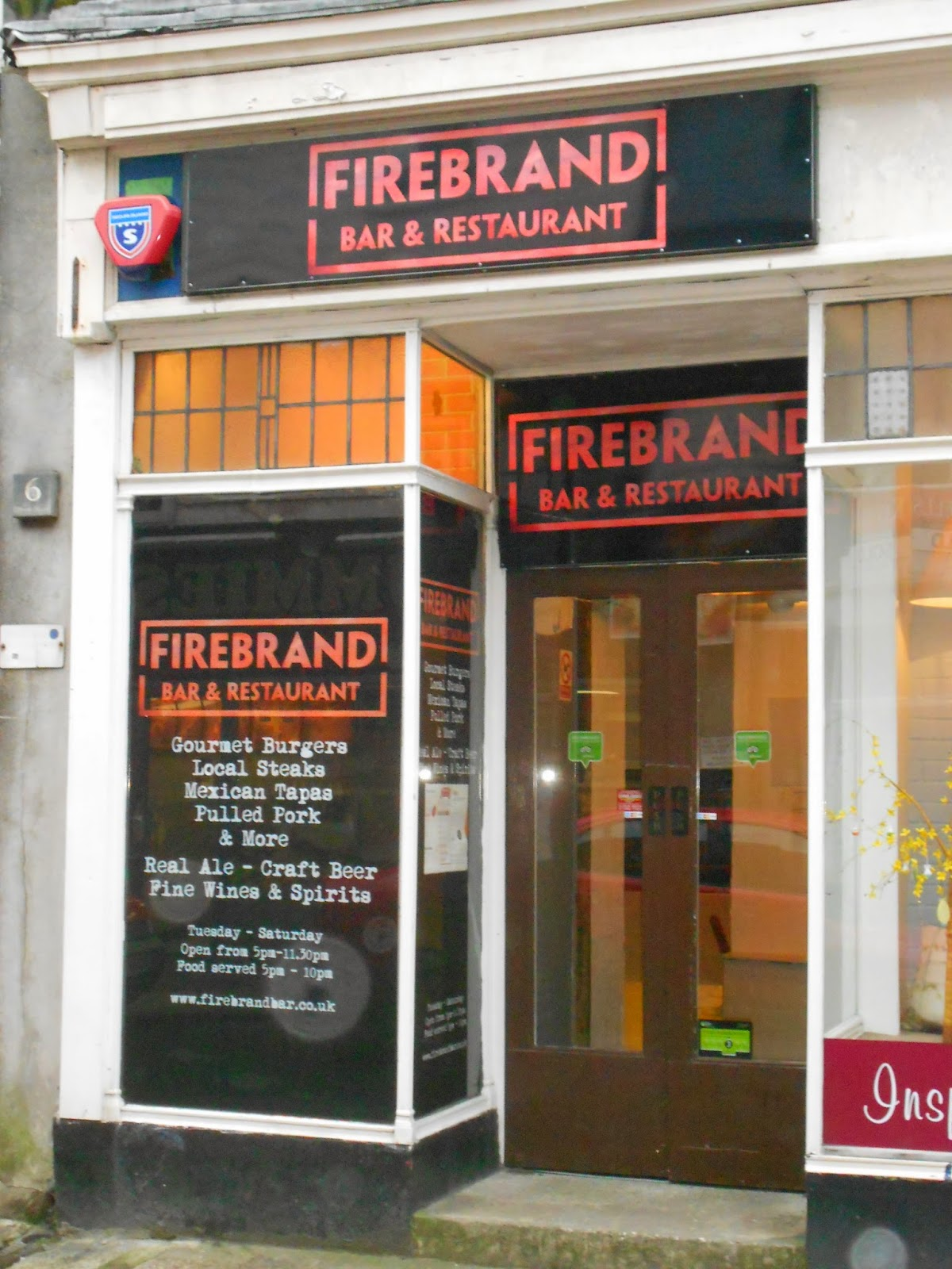 Firebrand Bar - a great venue for a game!