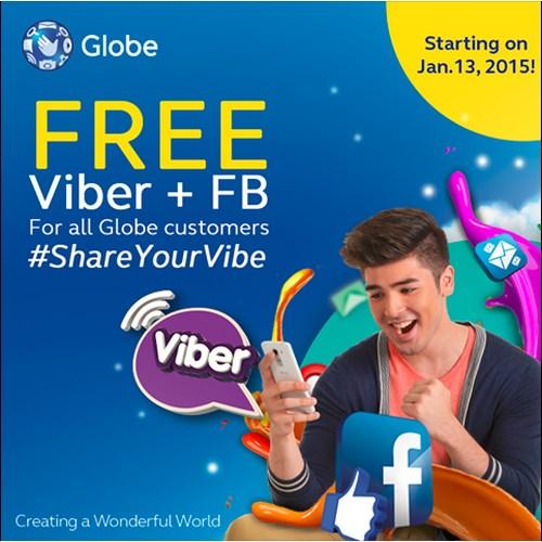 Free FB at Free Viber mula sa Globe