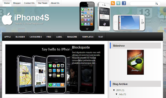 iPhone 4S Technology Blogger Template
