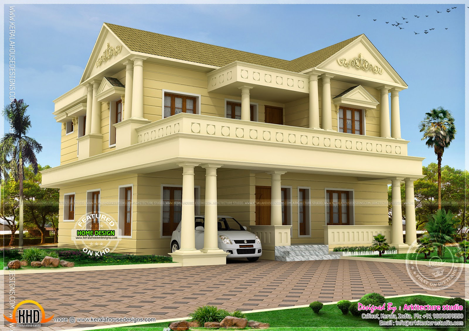 333 sq yd double storied house kerala home design and for 3000 sq ft house plans kerala style