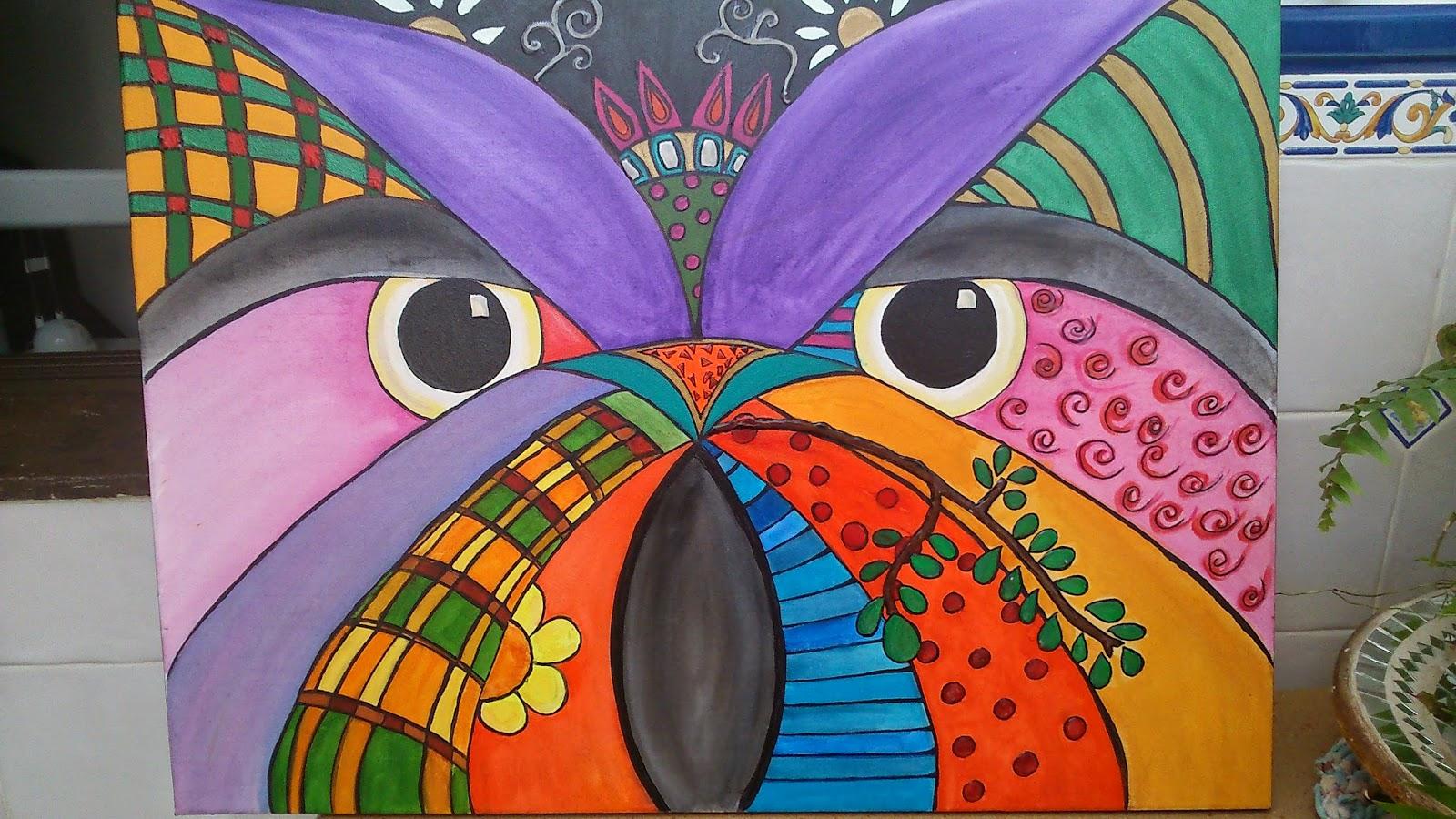 B ho pintado en acr lico for Pinturas acrilicas para cuadros