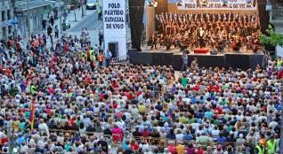 Imagen del público asistente al concierto en defensa del partido judicial el pasado 27 de junio. // M.G. Brea