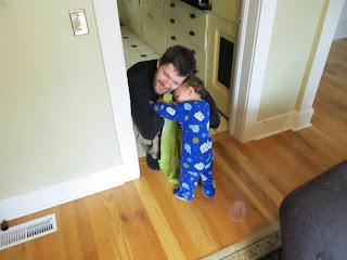 Bean hugging Daddy