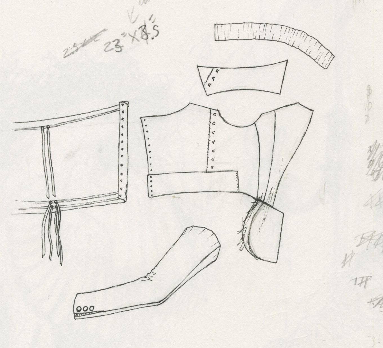 mouse borg designs  patterning the kci drawstring jacket c