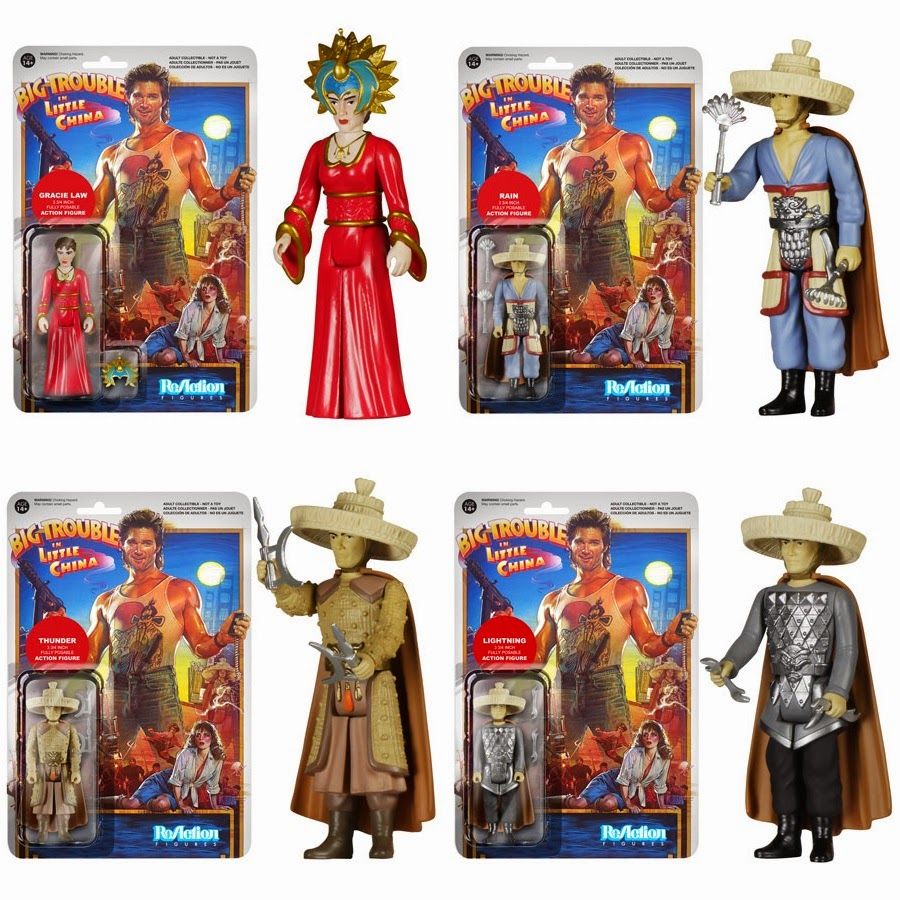Big Trouble in Little China ReAction Retro Action Figures by Funko & Super7 - Gracie Law, Rain, Thunder & Lightning