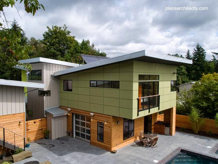 Casa de madera prefabricada contemporánea canadiense