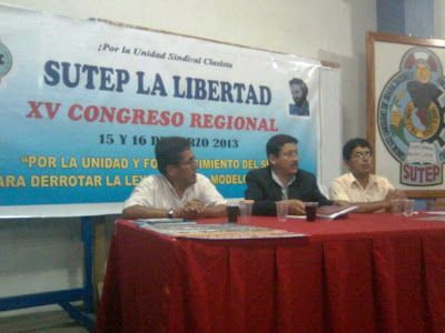 FÉLIX GUTIÉRREZ ABANTO, SEC. GRAL. SUTEP PROV. TRUJILLO 2013-2015