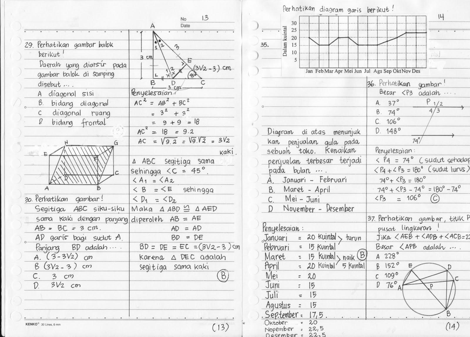 Soal dan Penyelesaian UN Matematika SMP 2011