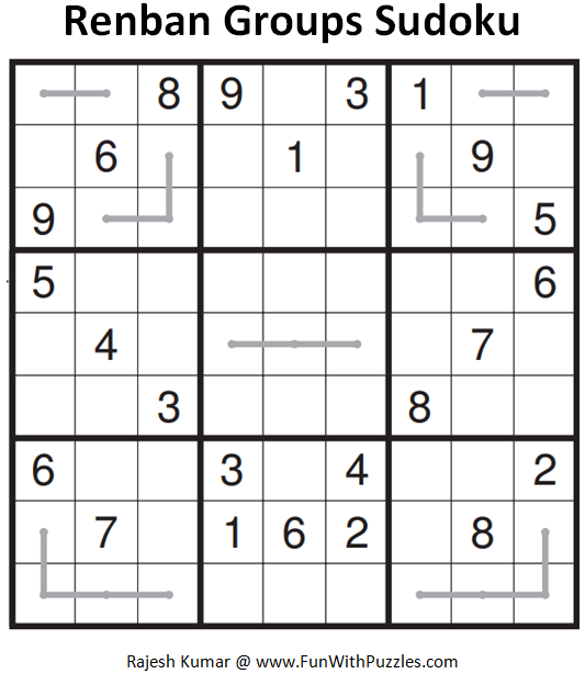 Renban Groups Sudoku (Fun With Sudoku #96)