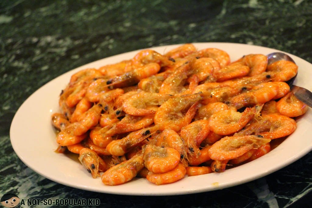 Fresh steamed shrimps of Royal Kitchen