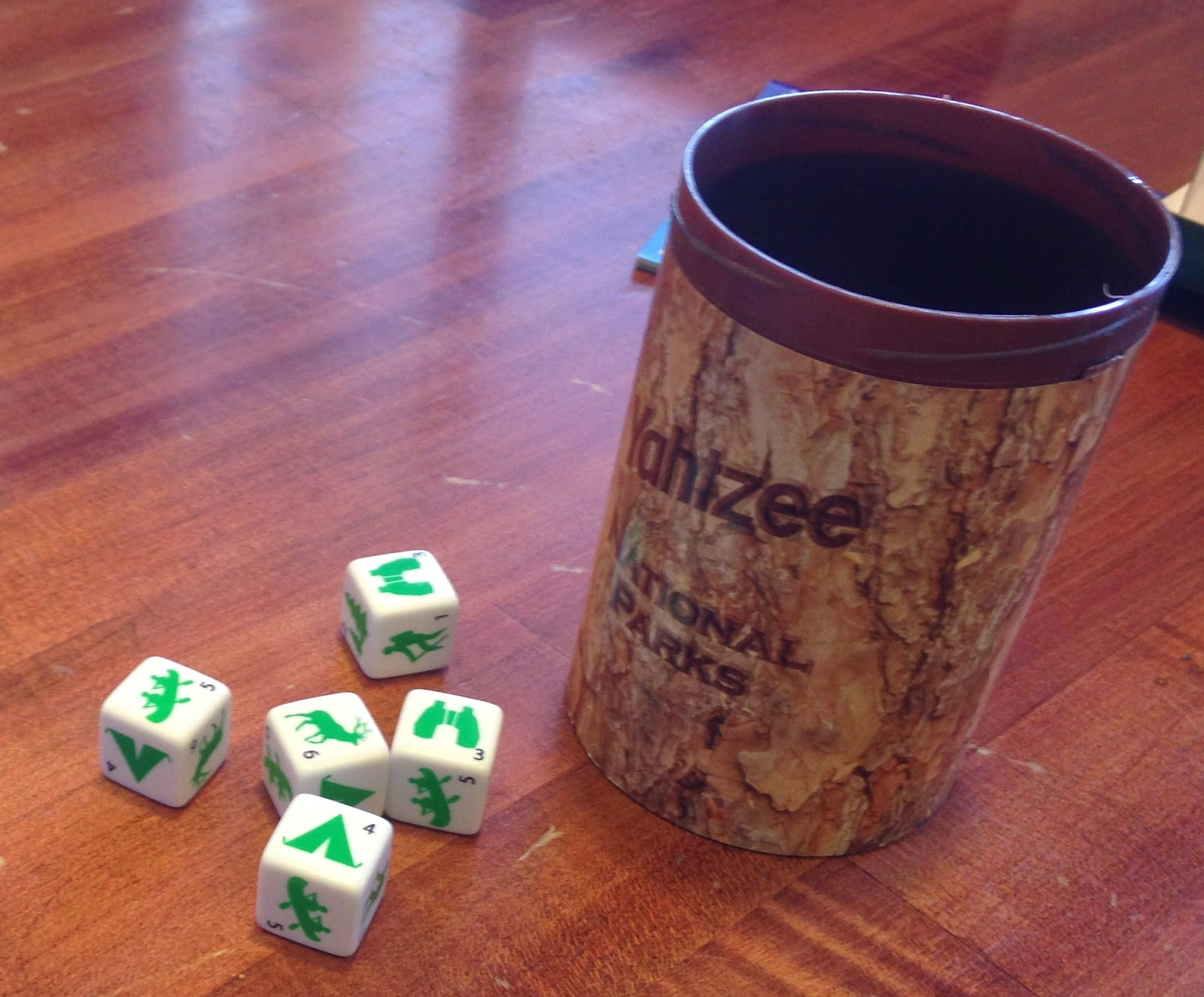National Parks Dice, Alternate Dice, Camping Dice