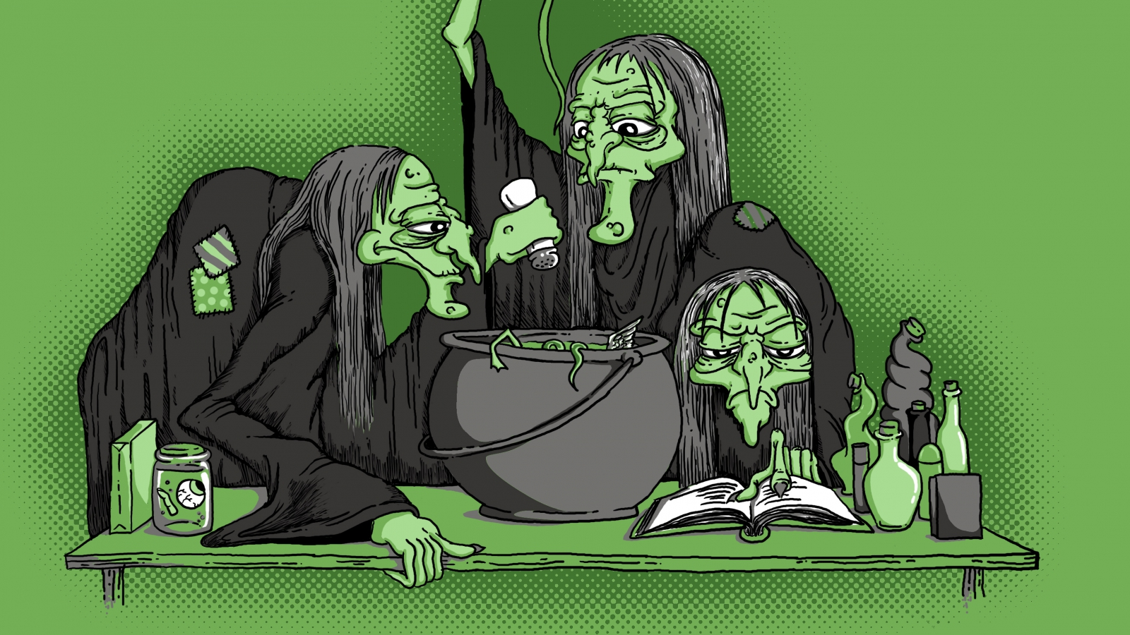 three witches and 7 lady macbeth Lady macbeth learns of the witches'  read what the three witches predict about macbeth and  overheard the conversation between him and lady macbeth in scene 7.