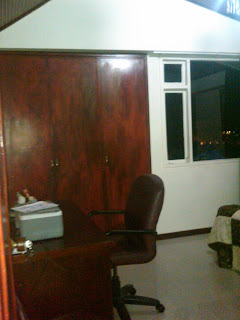 business desk in furnished flat in Bogota Colombia