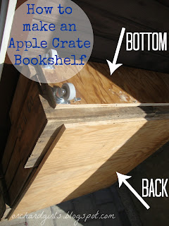 DIY - Apple Crate Bookshelf - Orchard Girls