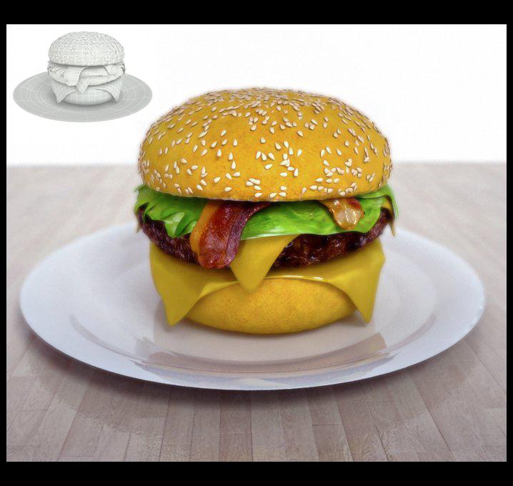 Burguer 3D Dfex3D